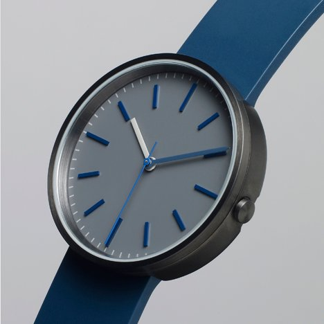 104 Series blue - Uniform Wares watch - side view