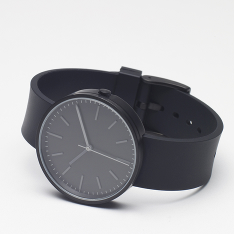 104 Series black - Uniform Wares watch - front view