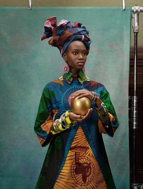 Vlisco Hommage L'Art Spring 2013. Photograph by Koen Hauser