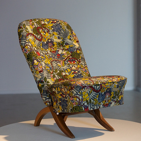 Congo Chair by Theo Ruth for Artifort, 1952, covered with Studio Job's print for Vlisco