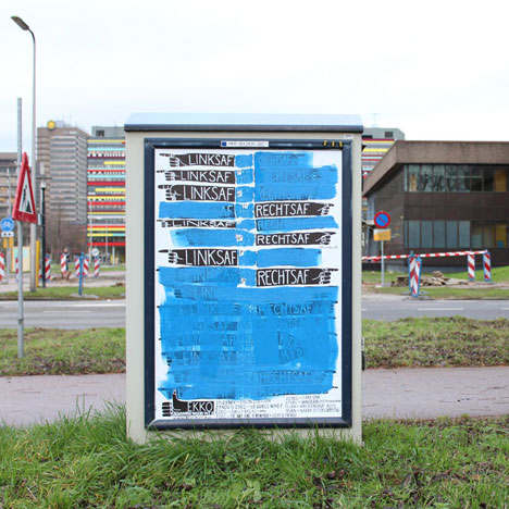 Waar is Ekko? combined posters and signage for a music festival by Kok Pistolet