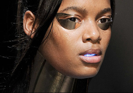 Digital Makeup by Alex Box Vitamins Design for Gareth Pugh