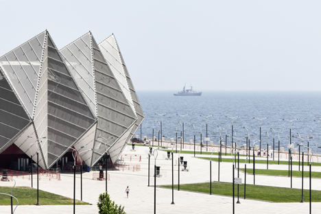 Baku Crystal Hall in Azerbaijan by GMP Architekten