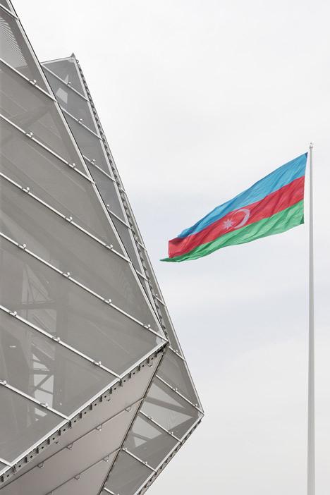 Baku Crystal Hall in Azerbaijan by GMP Architekten