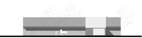 Elevation of Barn by Pascal Francois Architects