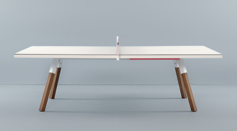 Bola Service ping pong table by Antoni Pallejà Office