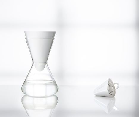 Carafe and water filter by Soma