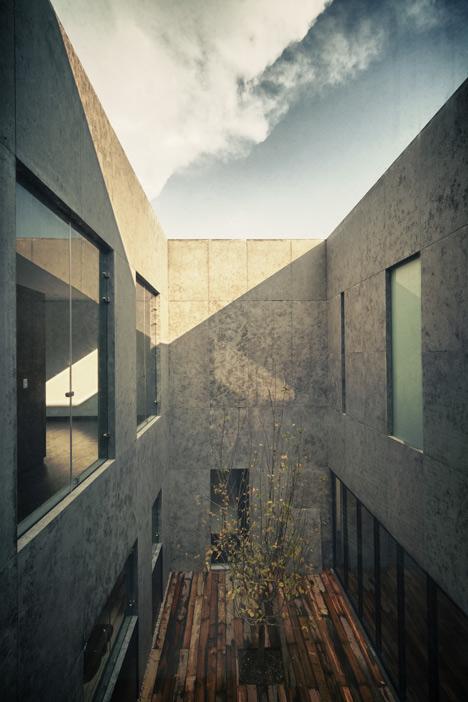 Casa Cumbres house in Mexico City by Taller Hector Barroso