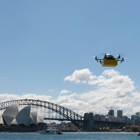 Flying drones to deliver text books