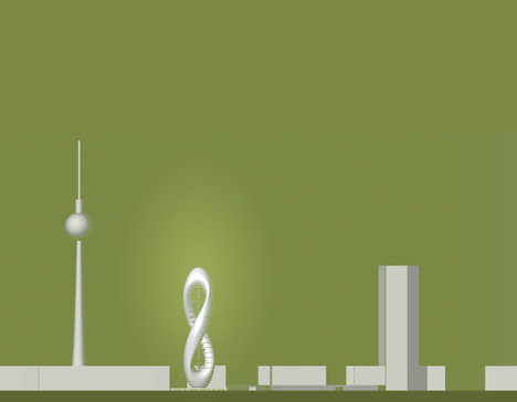 Green8 twisted skyscraper by Agnieszka Preibisz and Peter Sandhaus