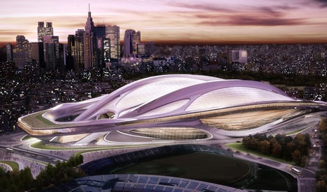Estadio Nacional de Japón por Zaha Hadid Architects