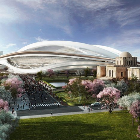 dezeen_Japanese architects rally against Zaha 2020 Olympic Stadium_sq