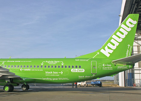 Kulula airline livery