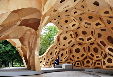 Out of Hand: Materializing the Postdigital at MAD - ICD/ITKE Research Pavilion by Achim Menges and Jan Knippers