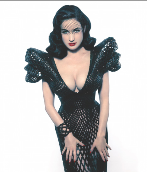 Out of Hand: Materializing the Postdigital at MAD - 3D-printed dress for Dita Von Teese by Michael Schmidt with Francis Bitonti