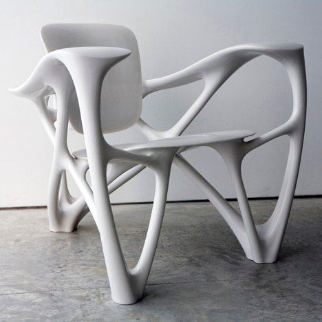 Out of Hand: Materializing the Postdigital at MAD - Bone Armchair by Joris Laarman
