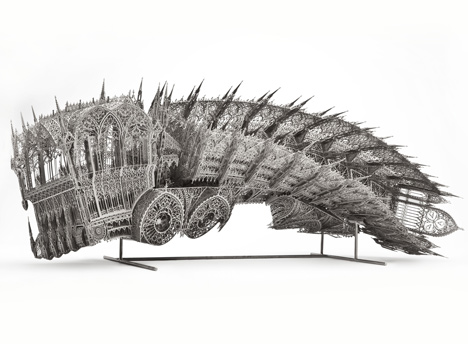 Out of Hand: Materializing the Postdigital at MAD - Twisted Dump Truck by Wim Delvoye