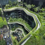 "Singapore hotel covered with plants was ""inspired by rock formations"""