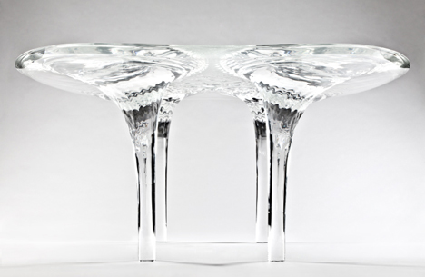 Prototype Liquid Glacial Table by Zaha Hadid