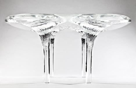 Prototype Liquid Glacial Table by Zaha Hadid