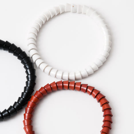 Perles necklace collection by Ronan and Erwan Bouroullec
