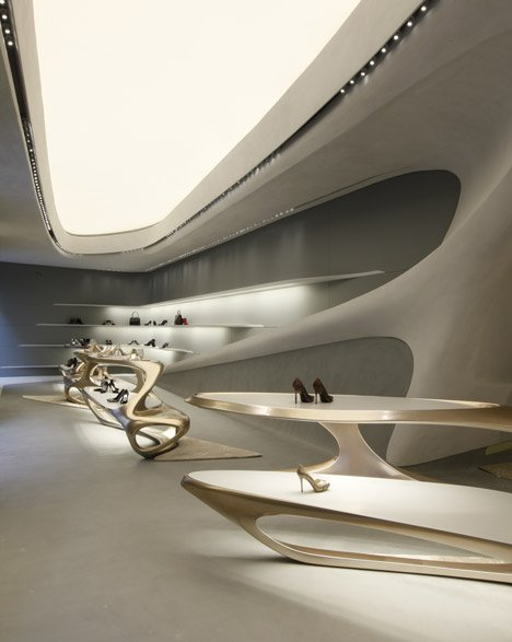 Stuart Weitzman shoe boutique by Zaha Hadid