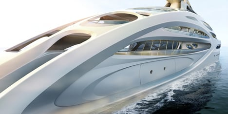Superyachts by Zaha Hadid for Blohm+Voss