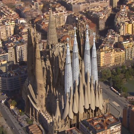 Animation shows completion of Antoni Gaudí's Sagrada Família