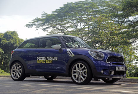 Our Dezeen and MINI World Tour MINI Paceman in Singapore