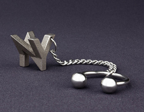 3D printed monogram by Mymo
