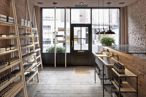 Aesop marylebone shop interior by studio ko Interior design stores london