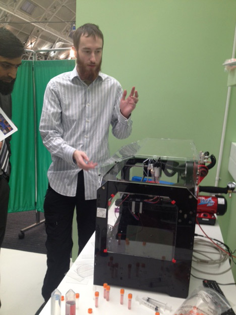 Alan Faulkner-Jones at the 3D Printshow