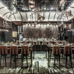 "Hong Kong museum restaurant by Joyce Wang features ""spiral staircase"" chandeliers"