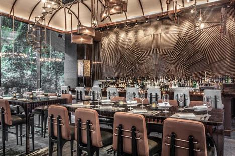 Ammo bar and restaurant in Hong Kong by Joyce Wang