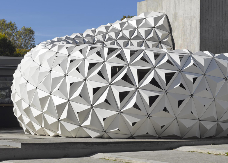 ArboSkin pavilion made from bioplastic by ITKE