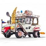 "Studio Job converts Land Rover Defender into ""hotch-potch on wheels"""