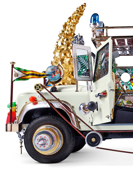 Automobile Land Rover sculpture by Studio Job