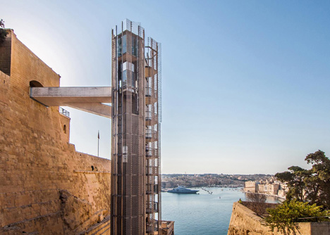 Barrakka Lift in Valletta, Malta, by Architecture Project