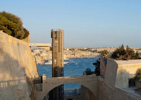Barrakka Lift in Valletta, Malta, by Architecture Project