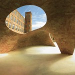 Vaulted brick pavilion in Barcelona by Map13