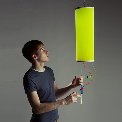 Colour Injector lamp by Taras Sgibnev