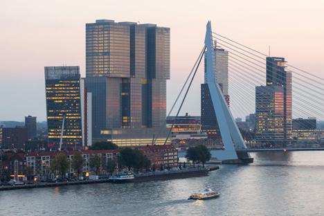 """OMA completes De Rotterdam """"vertical city"""" complex"""
