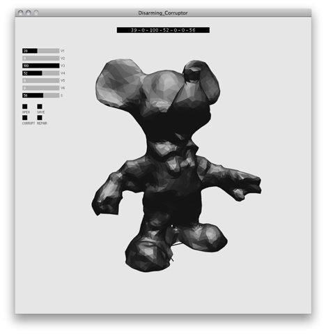 Disarming Corruptor for disguising 3D print files by Matthew Plummer Fernandez