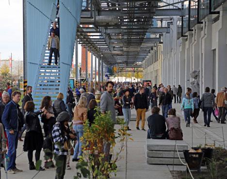 S-Strijp during Dutch Design Week in Eindhoven