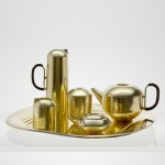 Form Tea Set made of brass by Tom Dixon