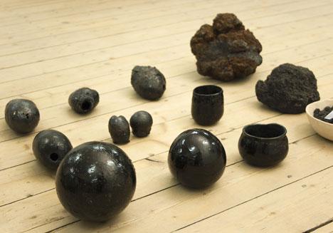 Formafantasma experiments with basalt lava