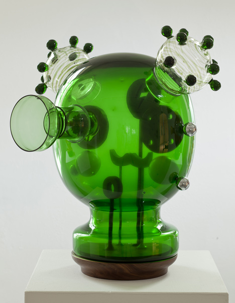 Testa Mechanica Green, 2012, by Jaime Hayón