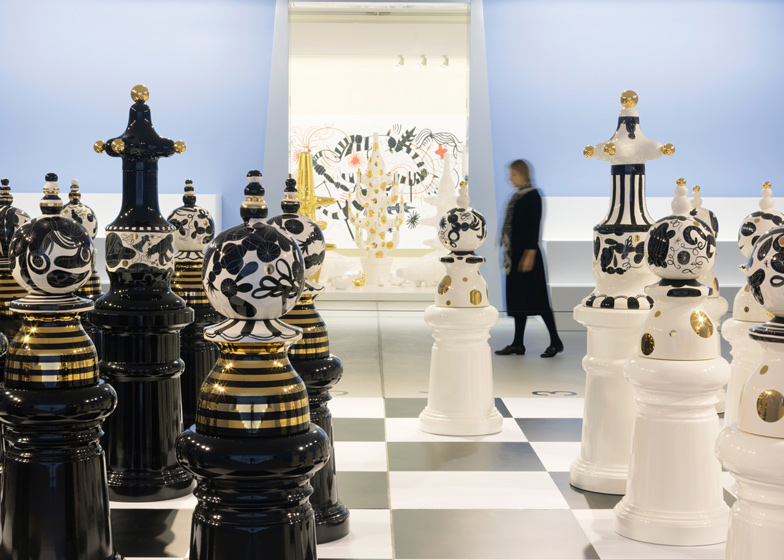 The Tournament giant chess set at the Groninger Museum
