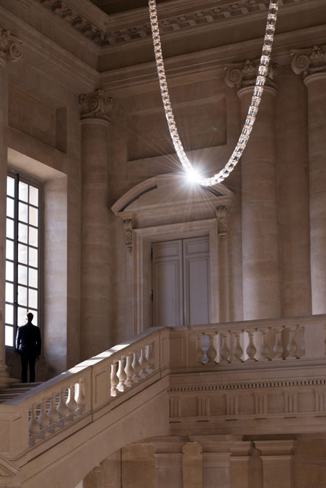 Gabriel Chandelier at the Chateau de Versailles by Ronan and Erwan Bouroullec