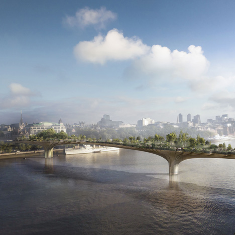 New images released showing Heatherwick's Garden Bridge across the Thames